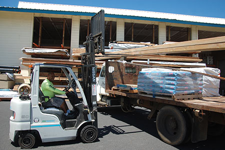Material Delivery from Aloha Roofing Supply