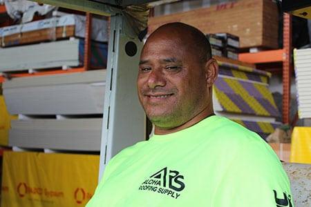Mooch, Yard Supervisor at Aloha Roofing Supply
