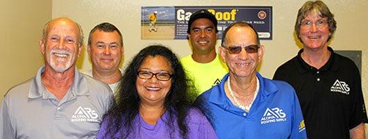 The Team at Aloha Roofing Supply in Kapaa, Kauai