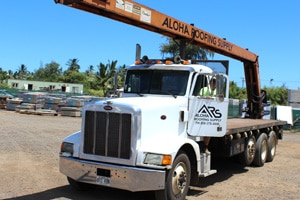 Boom Trucks, Aloha Roofing Supply