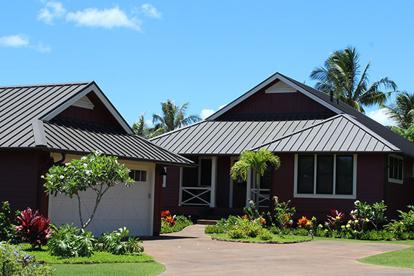 Standing Seam Metal Roofing on Kauai