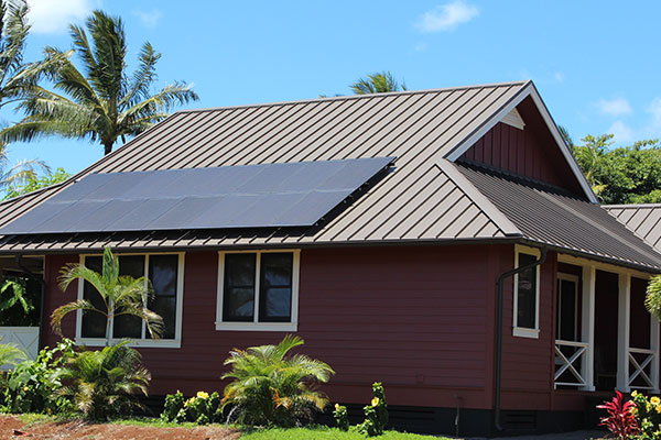 Metal Roof with Snap on Solar Panels