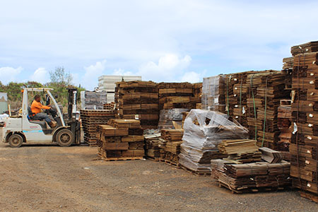 Large inventory of roofing products on Kauai