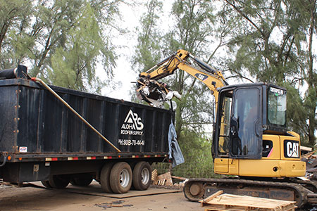 Roofing materials hauling and removal