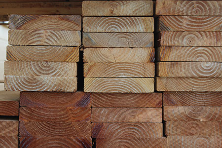 Treated lumber at Aloha Roofing Supply