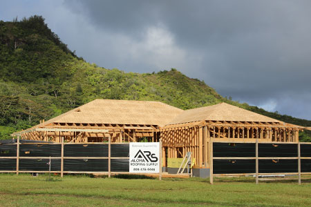 Lumber, plywood and siding on Kauai